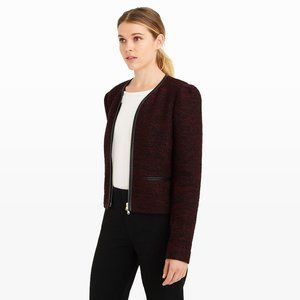 Club Monaco Braxlee Knit Cropped Jacket Size 8